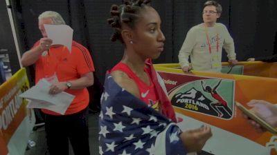 Brianna Rollins happy with silver in Portland