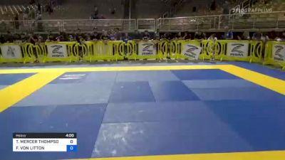 TENSEI MERCER THOMPSON vs FRANCISCO VON LITTON 2021 Pan Kids Jiu-Jitsu IBJJF Championship