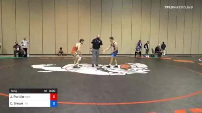 57 kg Consolation - Joshua Portillo, Nebraska Golden Eagles Wrestling Club vs Connor Brown, Tiger Style Wrestling Club