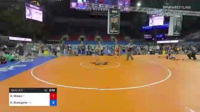 138 lbs Consi Of 4 - Ashton Miess, Wisconsin vs Koy Buesgens, Minnesota