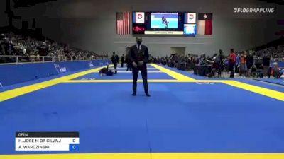 HELTON JOSE M DA SILVA JUNI vs ADAM WARDZINSKI 2021 World IBJJF Jiu-Jitsu No-Gi Championship