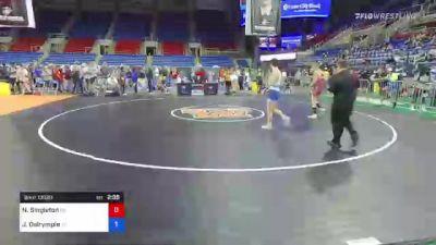 132 lbs Semifinal - Nash Singleton, Oregon vs James Dalrymple, Tennessee