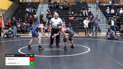 115 lbs Prelims - Luca Brown, BullDawgs Wrestling Club vs Johnathan Mangold, Chesapeake Bay Wrestling