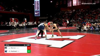 197 lbs Quarterfinal - Jacob Warner, Iowa vs Shakur Rasheed, Penn State