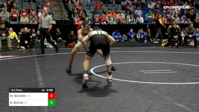 133 lbs 3rd Place - Matt Schmitt, West Virginia vs Austin Gomez, Iowa State