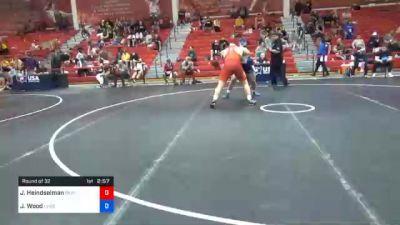 125 kg Prelims - Joshua Heindselman, Oklahoma Regional Training Center vs Jordan Wood, Lehigh Valley Wrestling Club