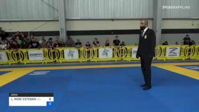 LEILANI ROSE ESTEBAN vs ANDREA NATALIA FERNANDO 2021 Pan IBJJF Jiu-Jitsu No-Gi Championship