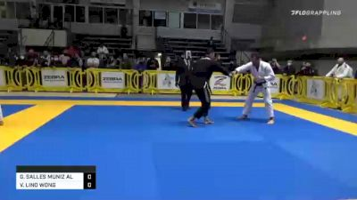 GABRIEL SALLES MUNIZ ALMEIDA vs VINICIUS LINO WONG 2020 American National IBJJF Jiu-Jitsu Championship
