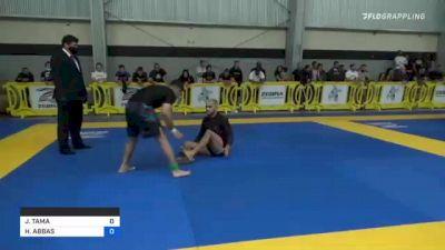 JOHNNY TAMA vs HAIDAR ABBAS 2021 Pan IBJJF Jiu-Jitsu No-Gi Championship