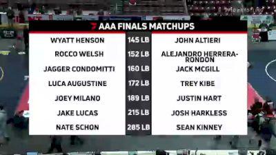 145 lbs Final - Wyatt Henson, Waynesburg vs John Altieri, Norwin