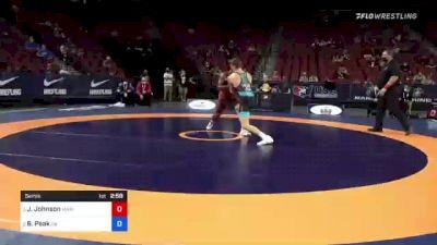 72 kg Semis - Jamel Johnson, Marines vs Benjamin Peak, Sunkist Kids Wrestling Club