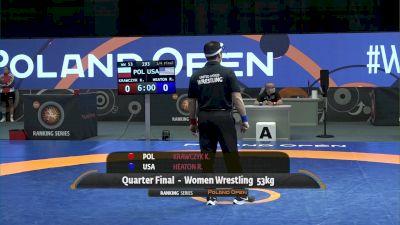 53kg Quarter-Final - Ronna Heaton, USA vs Katarzyna Krawczyk, POL