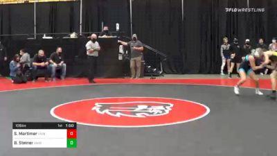 106 lbs Prelims - Sage Mortimer, Unattached 19 vs Braxton Steiner, Unattached 45