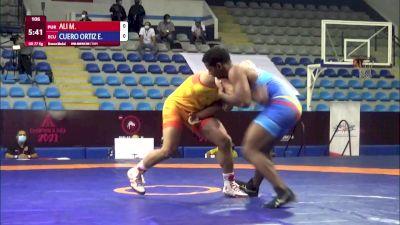 77 kg Final 3-5 - Marciano George Ali, Puerto Rico vs Enrique Javier Cuero Ortiz, Ecuador
