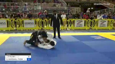 JOSIAH DEJUAN-ALAN TRIEZENBERG vs SEIYA MARSHALL THOMPSON 2021 Pan Kids Jiu-Jitsu IBJJF Championship