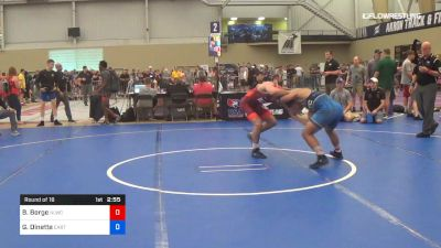 74 kg Round Of 16 - Brady Berge, Nittany Lion Wrestling Club vs Gabriel Dinette, Stanford - California RTC