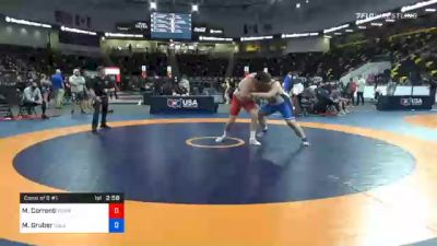 130 kg Consolation - Mauro Correnti, Pennsylvania RTC vs Mitchell Gruber, Columbus Wrestling Club