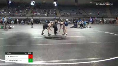 141 lbs Semifinal - Bret Minor, Iowa Central vs Creighton Baughman, Iowa Western