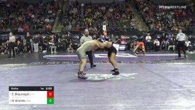 184 lbs Quarterfinal - Zachary Braunagel, Illinois vs Nelson Brands, Iowa