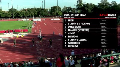 Men's 4x400m Relay, Heat 2 - High School