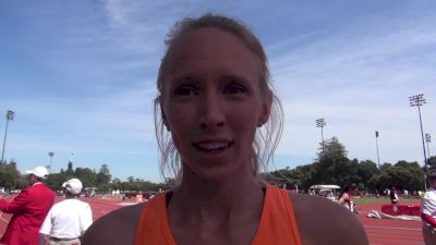 Clara Nichols after successful 800m, 1500m double at Stanford Invite