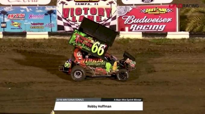 Robby Hoffman Wins Mini Sprints A Main - Saturday