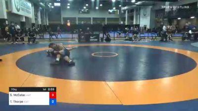 72 kg Prelims - Sean McCabe, SWAT (Sheldon Wrestling Academy Training) vs Travis Thorpe, Southern Oregon Regional Training Center