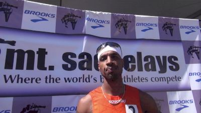 Duane Solomon after his impressive 800m win