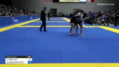 ELISABETH ANN CLAY vs BRIDGET GRACE MCELIECE 2021 World IBJJF Jiu-Jitsu No-Gi Championship
