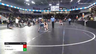 117 lbs Quarterfinal - Taylin Long, Illinois vs Rian Grunwald, Minnesota Storm