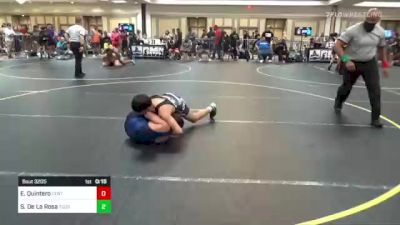 109 lbs Consi Of 32 #2 - Erik Quintero, Centennial vs Seferino De La Rosa, Tucson Cyclones