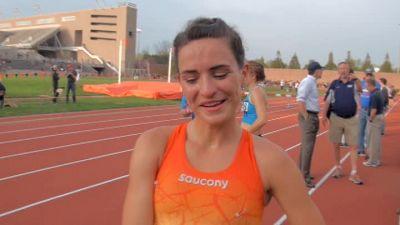 Ashley Higginson after strong steeple opener at Larry Ellis