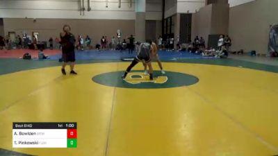 152 lbs Consolation - Austin Bowlden, Georgia vs Tyler Pinkowski, Florida
