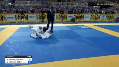 ALEXANDER JOSEPH BURNS vs NOAH MICHAEL BESHARA 2021 Pan Kids Jiu-Jitsu IBJJF Championship