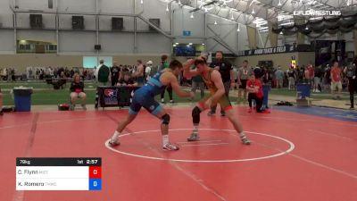 79 kg 3rd Place - Connor Flynn, Mizzou vs Kaleb Romero, TMWC/Ohio RTC
