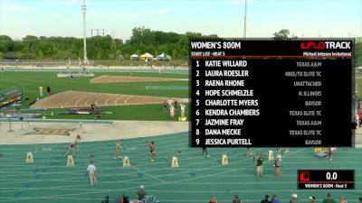 Women's 800m, Heat 5 (Roesler makes 2-flat look EASY!)