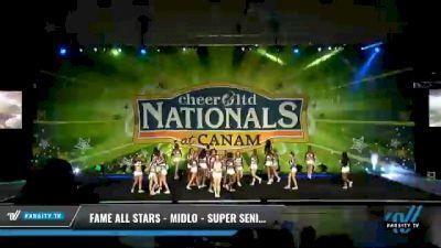 FAME All Stars - Midlo - Super Seniors [2021 L6 Senior Open Day 2] 2021 Cheer Ltd Nationals at CANAM
