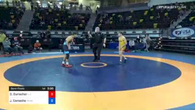 57 kg Semifinal - Dane Durlacher, Illinois Regional Training Center/Illini WC vs Jakob Camacho, TMWC/ Wolfpack Wrestling Club