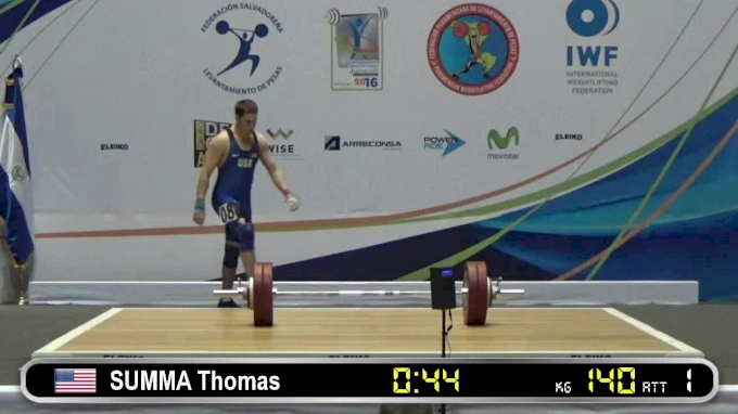 Thomas Summa: 2016 Junior Pan Ams