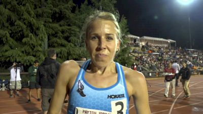 Nicole Tully after PR on anniversary of 5K debut