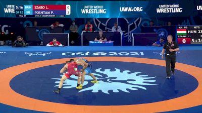 82 kg Final 3-5 - Laszlo Szabo, Hungary vs Pejman Poshtam, Iran