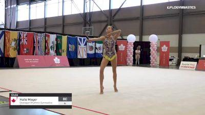 Halle Moger - Clubs, Okanagan Rhythmic Gymnastics Club - 2019 Elite Canada - Rhythmic