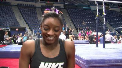 Simone Biles on Pacing for Rio, Switching up her Floor Routine, & Not Being Gabby's Rival - Training Day, Secret Classic 2016