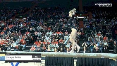 McKenna Singley - Beam, Oregon State - 2019 NCAA Gymnastics Regional Championships - Oregon State