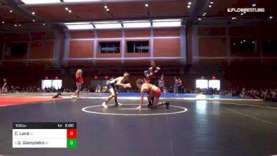 106 lbs Final - Cory Land, AL vs Gabe Giampietro, DE