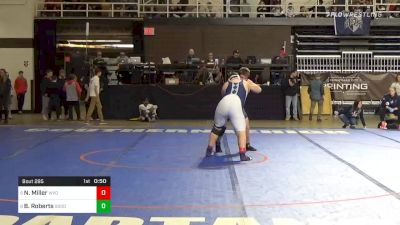 285 lbs 5th Place - Nate Miller, Wyoming Seminary vs Brandon Roberts, Good Counsel