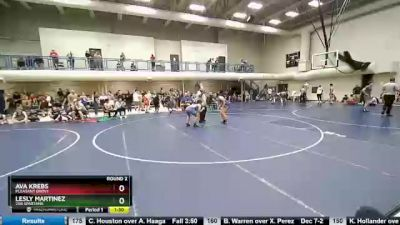 135 lbs Round 2 - Ava Krebs, Pleasant Grove vs Lesly Martinez, 208 Spartans