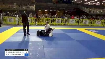 BRYANNA MCKENZIE ORANGE vs NOELIA ALEXANDRA VARELA 2021 Pan Kids Jiu-Jitsu IBJJF Championship