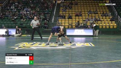 149 lbs Quarterfinal - Gavin Hale, Bloomsburg University vs Avery Shay, Clarion University