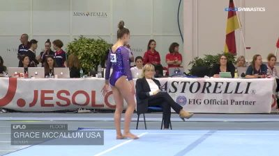 Grace McCallum USA - Floor, Senior - 2018 City of Jesolo Trophy